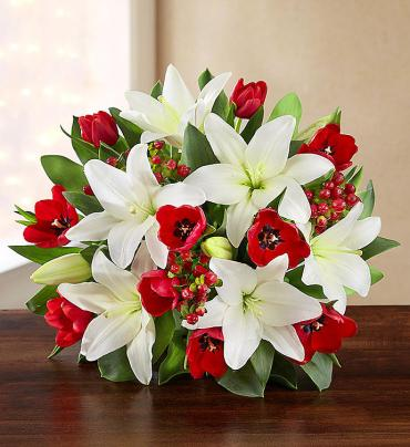 Winter Tulip & Lily Bouquet