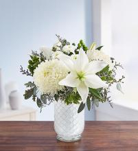 Pure Elegance Bouquet™ in White Mosaic Vase