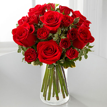 The Red Romance Rose Bouquet